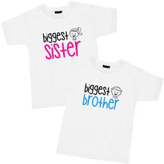 Cartoon Face Biggest Sister or Brother T Shirt or Hoodie