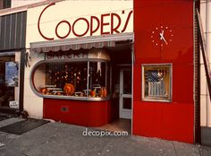 Cooper's Bakery (Enameled metal and red Vitrolite, dismantled), New Jersey...