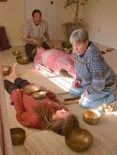 sound healing  this photo is similar to the sound healing i received this week but mine was done with crystal singing bowls as well as gongs.  it was remarkable and extraordinary!