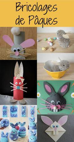Slideshow: 7 bunny crafts for Easter - Easter crafts for our chicks # DIY - Rabbit Crafts, Bunny Crafts, Easter Crafts, Easter Ideas, Making Easter Eggs, Plastic Easter Eggs, Diy For Kids, Crafts For Kids, Children Crafts