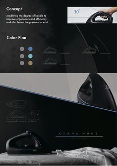 Steam iron design presentation board