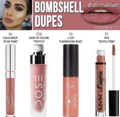 Huda beauty liquid lipstick dupes in the shade Bombshell // Kayy Dubb ♡