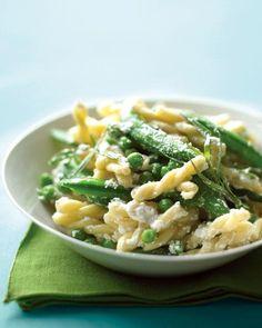 Two-Pea Pasta with Ricotta and Tarragon Recipe