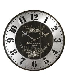 Look what I found on #zulily! Rue De L'Elise Wall Clock #zulilyfinds