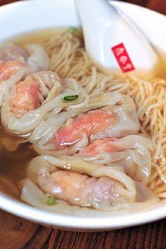 shrimp wonton noodle soup. Ding Tai Fung, Taiwan