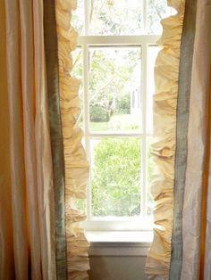 Ruffled taffeta window treatments