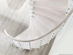 Spindeltreppe Caparo: Buche - weiß 1.100€
