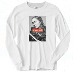 Cersei Lannister SUPER Milf Vintage 90s Long Sleeve Shirt Graphic Tees, Graphic Sweatshirt, Cersei Lannister, Short Models, 90s Outfit, Going Out, Long Sleeve Shirts, Short Sleeves, Sweatshirts