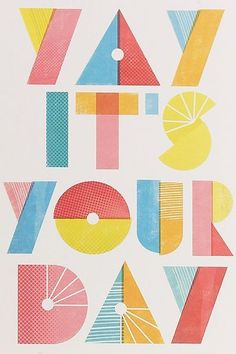 Yay It's Your Day typography