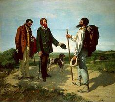 Autore: Gustave Courbet; Titolo: Buongiorno signor Courbet; Data: 1854; Tecnica: olio su tela, 129 x 149 cm; Luogo di conservazione: Musèe Fabre, Monpellier