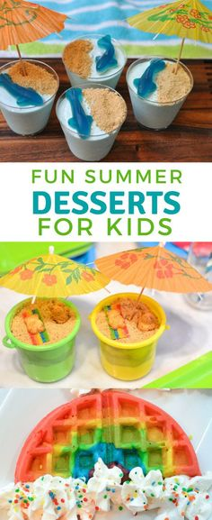 Fun summer desserts for kids.  Find fun ideas and easy snacks and pool parties.
