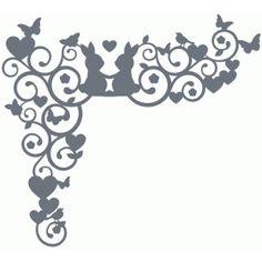 Silhouette Design Store - View Design #75463: bunny swirl corner