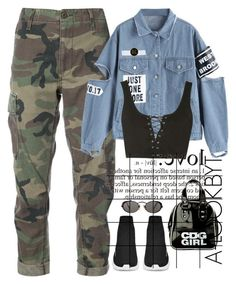 """""""•••"""" by a-lookbyt ❤ liked on Polyvore featuring RE/DONE, Topshop, WALL, Jean-Paul Gaultier and Forum"""