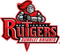 Rutgers Scarlet Knights Primary Logo (1995-2003) - A knight holding sword down to form T in Rugers