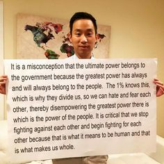 Think about it! Power To The People, We The People, Great Power, Faith In Humanity, Coven, Thought Provoking, Great Quotes, Good To Know, Wise Words