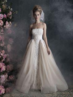 Allure Shoulder Straps Lace Bodice Mermaid Organza Wedding Dress ...