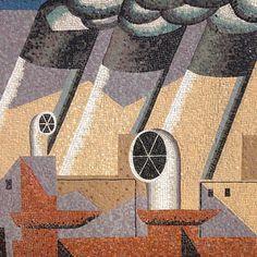 36 meters long mosaic by Gino Severini 1940. #ginoseverini by olimpiazagnoli