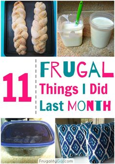 11 Frugal Things I Did Last Month. Easy Money Saving tips applied to real life.