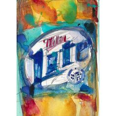 Rifkin - ACEO - MILLER LITE BEER PRINT from Orignial Watercolors