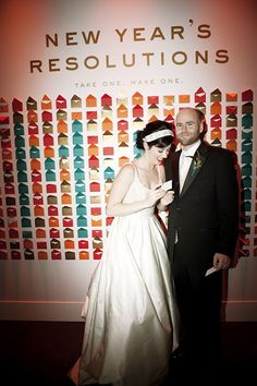 A New Year's resolution wall is fun and interactive for guests | Brides.com