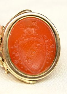 14K solid gold double sided intaglio fob spinner Seal $260