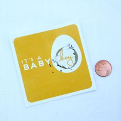 Baby Gender Reveal Scratch Off Cards.