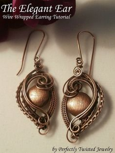 Wire TUTORIAL, Wire Wrapped Earrings, The Elegant Ear, Wire Jewelry Pattern, Making Wire Jewelry $12.21 USD