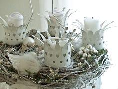 Advent Wreath, White, Christmas
