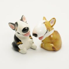 Bull Terrier Dog Ceramic Figurine Salt Pepper Shaker B00004 Ceramic Handmade Dog Lover Gift Collectible Home Decor Art and Crafts by Bull Terrier - madamepOmm -. $59.00. Bull Terrier Dog Lover Ceramic Original Handmade Hand Paint Salt and Pepper Shaker Figurine Ceramic Home Decor Collectibles  Made of ceramic porcelain high fired interior apply clear under-glaze, food safe painted with attention hand painted acrylic paint then apply clear gloss protected.  It's come with r...