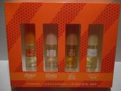 Coty Women's Cologne Musk Collection JOVAN, WHITE, WILD, VANILLA 1.0 oz each NEW #COTY