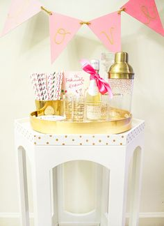 Pretty Gold Bar Cart DIY...