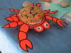 Die Bastel-Elfe, alles rund ums Basteln - Meeresgeburtstag - Teil 3- Krabbenmuffins, Delphinkuchen