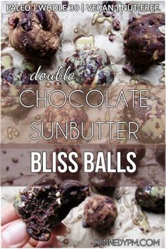 Double Chocolate Sunbutter Bliss Balls - KennedyPM