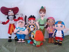 turma do jack e os piratas em feltro com tamanho médio 40 cm