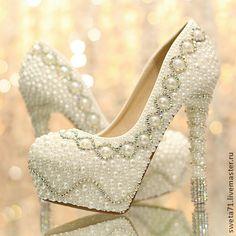 Шикарные туфли для невесты. Handmade.