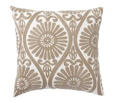 Daisy Medallion Embroidered Pillow Cover, 20