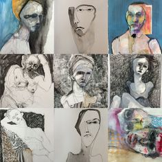 9 of the 10 drawings heading to Berlin for an exhibition in November 2016 veronica cay
