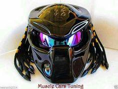 Predator motorcycle helmet from Muscle Cars Tuning.