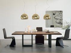 Table rectangulaire en noyer SIGMA by Cattelan Italia design Philip Jackson