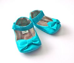 Cora baby girl shoes  turquoise blue/ aqua shoes by JolieBerry, $27.95