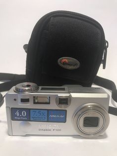 Vintage Minolta Dimage F100 Camera with Case - Need Battery Contact - Priced As    eBay