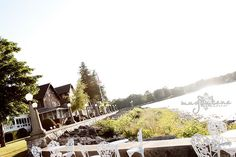 Outdoor wedding resort along the water at the Alpine Resort in Egg Harbor, WI, Door County. #dc #bride #water #outdoor