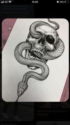Skull Tattoo Design, Tattoo Design Drawings, Tattoo Sleeve Designs, Skull Tattoos, Tattoo Sketches, Body Art Tattoos, Drawing Sketches, Hand Tattoos, Sleeve Tattoos