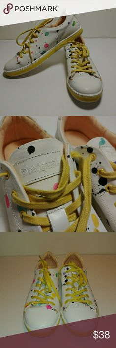 Desigual Sneakers Spots Paint Splatter Pre-owned Desigual Sneakers. Women's size In great shape. Worn only a few times. Some fairly clean and in good shape.