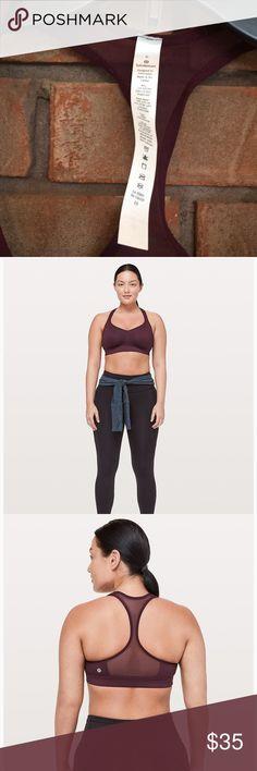 6f3c9e2070 Lululemon speed up sports bra size 6 C D maroon NWT lululemon speed up  sports bra. Perfect for a stylish workout. Size 6 C D lululemon athletica  Intimates ...