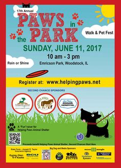 Paws in the Park Walk & Pet Fest Fundraising Events, Fundraising Ideas, Fun Events, Dog Park, Dog Walking, Woodstock, Dog Grooming, Animal Shelter, Friends Family