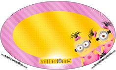 Placa Elipse Minions para Meninas Minion Birthday, Minion Party, One Stroke Painting, Body Painting, Pink Minion, Homemade Face Paints, Minions Despicable Me, Body Art Tattoos, Party Themes