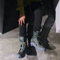 """Taking a look at Rick Owens 18SS DIRT """"LACEUP HIKING BOOT"""" rp: @cherry__fukuoka Spring Summer 2018, Rick Owens, Hiking Boots, Combat Boots, Footwear, Lace Up, Photo And Video, Accessories, Shoes"""