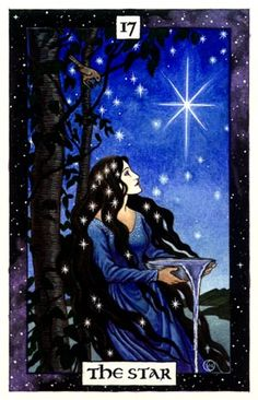 Did you know that Tarot cards are not just of the Wicca religion? Learn how Tarot cards originated, how to make a spread and the art of reading, and what all the cards symbolize. Art And Illustration, Imbolc Ritual, Star Tarot, Tarot Astrology, Pagan Art, Tarot Major Arcana, Goddess Art, Star Goddess, Tarot Spreads