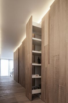 pull-out cabinet, not strictly dream home modern in feel, but very very cool and sleek.